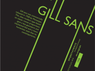 Gills Sans Poster